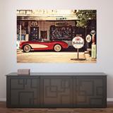 Painel Adesivo de Parede - Posto Vintage - 518pnp - Allodi