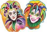 Painel Carnaval - Arlequim e Arlequina - Festa maluca