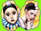 Painel Carnaval - Pierrot e Colombiana - Festa maluca