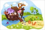 Painel de Festa Arca De Noé 02 - Colormyhome