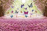 Painel de Festa Floresta Jardim Encantado 05 - Colormyhome