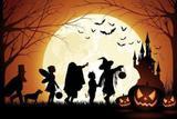 Painel de Festa Halloween Dia Bruxas 06 - Colormyhome