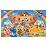 Painel de festa Infantil Arca de Noé Animais 1.80m X 1.30m - Wrio