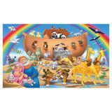 Painel de festa Infantil Arca de Noé Animais 3.00m X 1.70m - Wrio