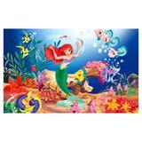 Painel de festa Infantil Ariel fundo do mar 1.50m X 1.00m - Wrio