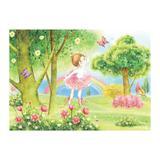 Painel de festa Infantil Bailarina Jardim 1.50m X 1.00m - Wrio