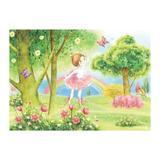 Painel de festa Infantil Bailarina Jardim  1.80m X 1.30m - Wrio