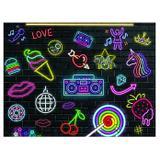 Painel de festa Infantil Balada Neon 1.80m X 1.30m - Wrio