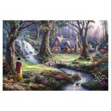 Painel de festa Infantil Branca de Neve Floresta 2.00m X 1.40m - Wrio