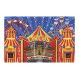 Painel de festa Infantil Circo  3.00m X 1.70m - Wrio