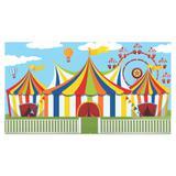 Painel de festa Infantil Circo Tendas  2.00m X 1.40m - Wrio