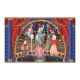 Painel de festa Infantil Circo Vintage  2.00m X 1.40m - Wrio