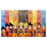 Painel de festa Infantil Dragon Ball 2.50m X 1.50m - Wrio
