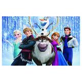 Painel de festa Infantil Frozen Personagens 2.50m X 1.50m - Wrio