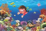 Painel de festa Infantil Fundo do Mar Menino 1.50m X 1.00m - Wrio