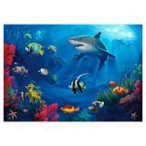 Painel de festa Infantil Fundo do Mar Tubarão 1.50m X 1.00m - Wrio