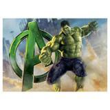Painel de festa Infantil Hulk Avengers 1.50m X 1.00m - Wrio