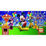 Painel de festa Infantil Mickey Parque 1.50m X 1.00m - Wrio