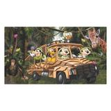 Painel de festa Infantil Mickey Safari Carro  3.00m X 1.70m - Wrio