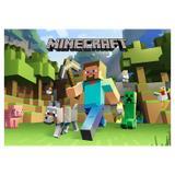 Painel de festa Infantil Minecraft 1.50m X 1.00m - Wrio