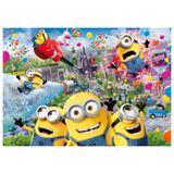 Painel de festa Infantil Minions Party  2.50m X 1.50m - Wrio