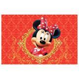 Painel de festa Infantil Minnie Vermelha Realeza  3.00m X 1.70m - Wrio