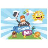 Painel de festa Infantil Mundo Bita 1.50m X 1.00m - Wrio
