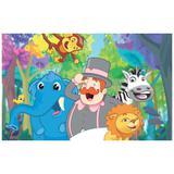 Painel de festa Infantil Mundo Bita Animais 1.50m X 1.00m - Wrio