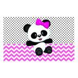 Painel de festa Infantil Panda Rosa 1.50m X 1.00m - Wrio
