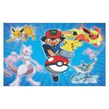 Painel de festa Infantil Pokemon 1.50m X 1.00m - Wrio