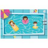 Painel de festa Infantil  Pool Party 1.80m X 1.30m - Wrio