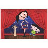 Painel de festa Infantil  Show da Luna 2.00m X 1.40m - Wrio