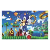 Painel de festa Infantil Sonic  1.80m X 1.30m - Wrio