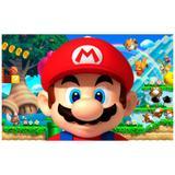 Painel de festa Infantil Super Mario Brós   2.50m X 1.50m - Wrio