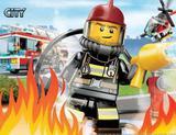 Painel de Festa Lego City Bombeiro 04 - Colormyhome