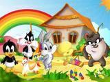 Painel de Festa Looney Tunes Baby 03 - Colormyhome