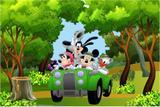 Painel de Festa Mickey Safari 02 - Colormyhome