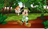 Painel de Festa Mickey Safari 03 - Colormyhome
