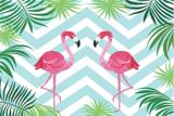 Painel de Festa Tropical Flamingo 01 - Colormyhome