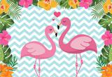 Painel de Festa Tropical Flamingo 04 - Colormyhome