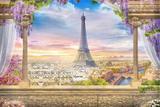 Painel de Festa Varanda em Paris 03 - Colormyhome