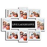 Painel de fotos quadro porta retrato mural sentimentos album para 8 fotos luxo - Gimp