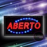 Painel De Led Letreiro Luminoso Placa Aberto - 110v - Importado
