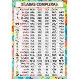 Painel De Lona Escolar Silabas Complexas 2- 100x070cm - Fabrika de festa