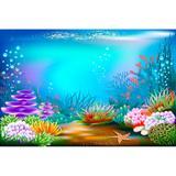 Painel De Lona Fundo Do Mar 07 - Fabrika de festa