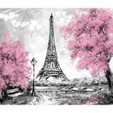 Painel de Tecido Sublimado Paris Torre Eiffel Pintura - Fabrika de festa
