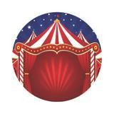 Painel De Tecido Sublimado Redondo Circo 020 C/Elástico - Fabrika de festa