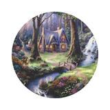 Painel De Tecido Sublimado Redondo Floresta Encantada Branca de Neve C/Elástico - Fabrika de festa
