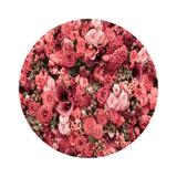 Painel de Tecido Sublimado Redondo Textura de Flores Fuxia - Fabrika de festa
