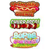 Painel Decorativo Cachorro Quente Churrasco e Sopas - Festabox
